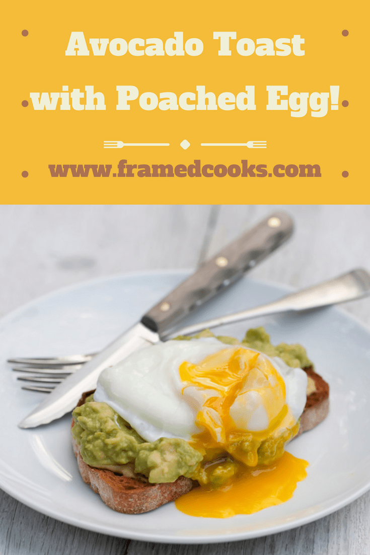 Some mashed avocado and a poached egg make this simple open-faced sandwich an easy and scrumptious treat! Treat yourself to some avocado toast with poached egg today.