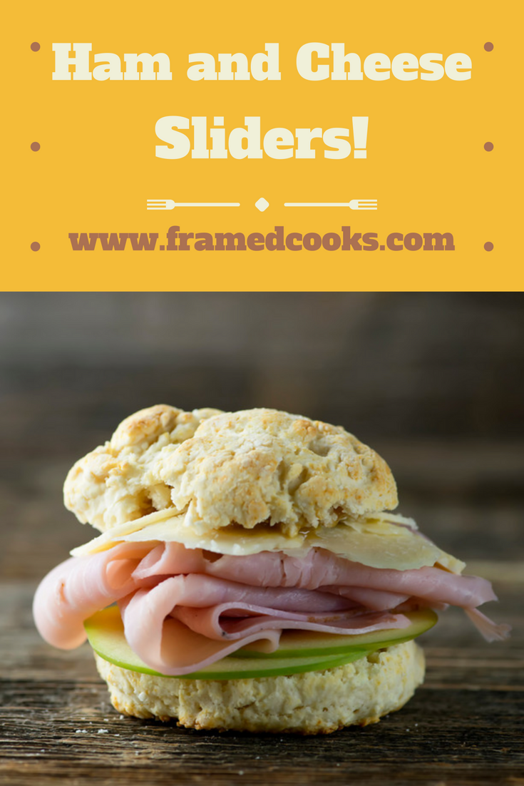 Jazz up your ham and cheese sandwich by trying this slider version that includes sweet apple slices and a biscuit!