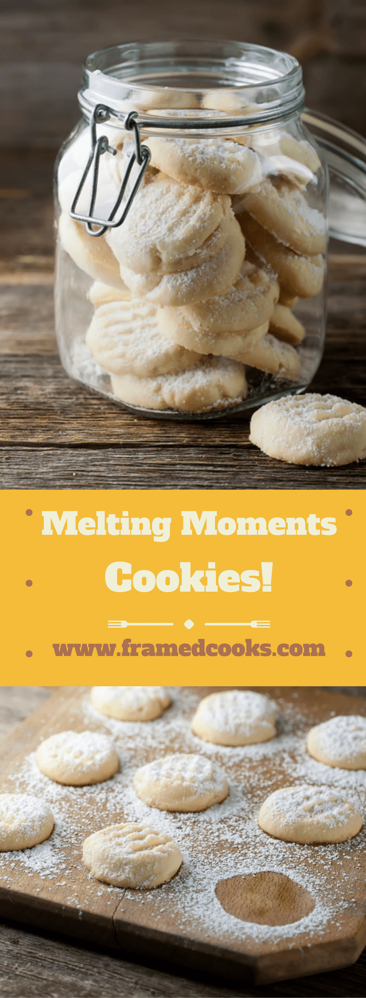 Melting moments cookies are a delightful little sugar cookie guaranteed to melt the heart of the lucky person you bake them for! Here's the easy recipe.