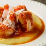 Soft Polenta with Sweet Tomato Sauce - Framed Cooks