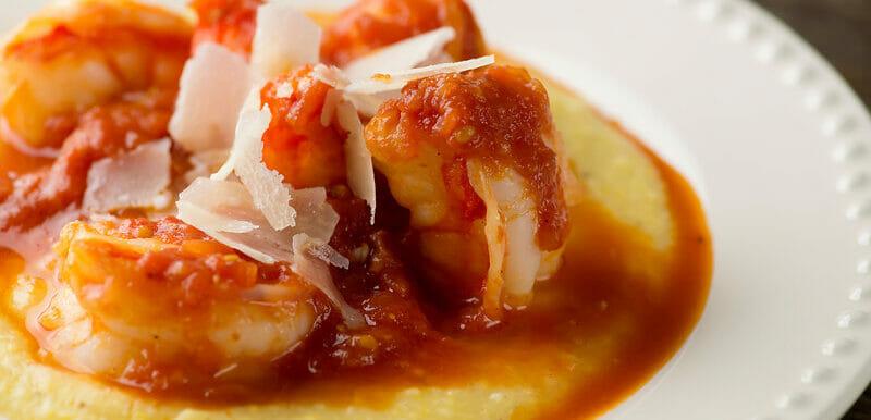 Shrimp Marinara with Polenta