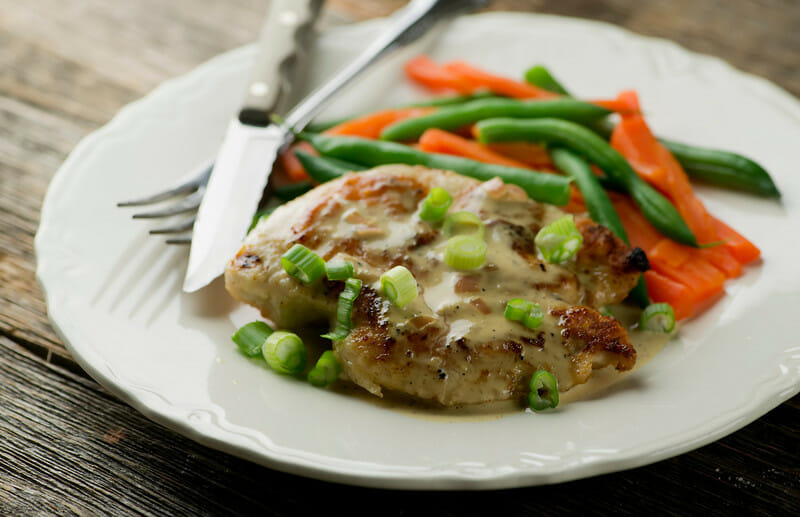 Chicken with Brandy Mustard Cream Sauce - Framed Cooks