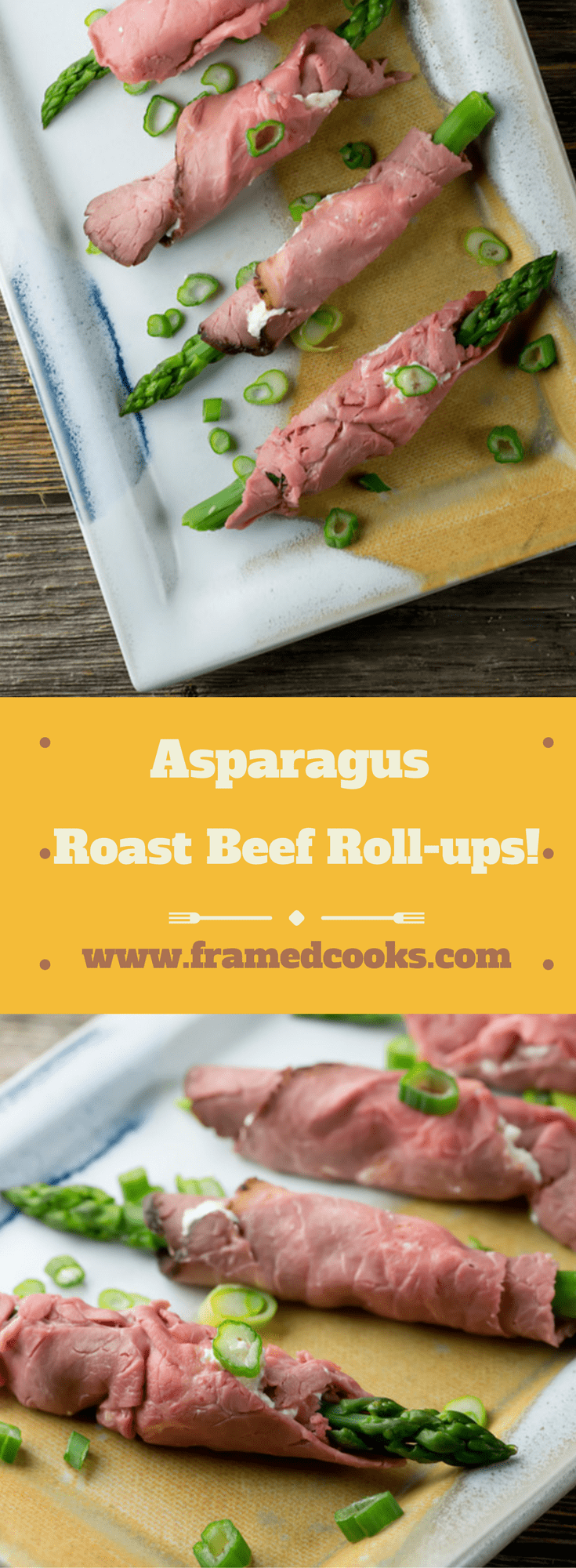 Roll up some asparagus in a roast beef and some horseradish cream cheese for an instant elegant appetizer. Horseradish asparagus roast beef roll-ups!