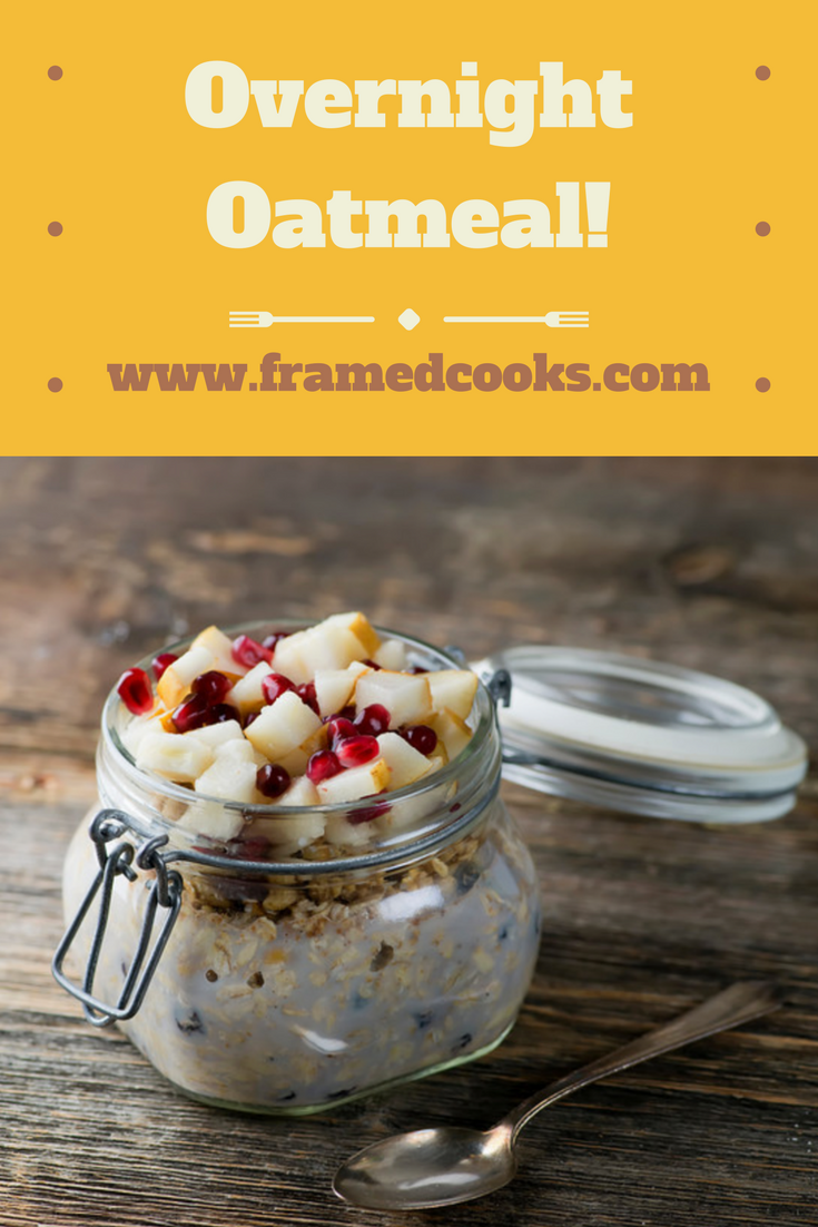 Shake up your oatmeal with this easy overnight recipe that cooks in your refrigerator!