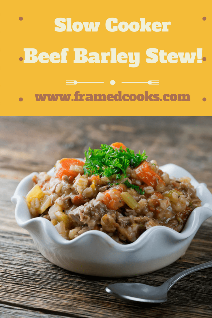 Turn your favorite soup into your favorite stew with this easy recipe.  Slow cooker beef barley stew is a warm and wonderful comfort food!