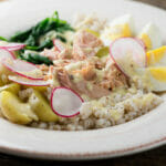One Bowl Suppers: Tuna with Spinach, Potatoes and Radishes
