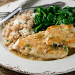 chicken in white wine pan sauce