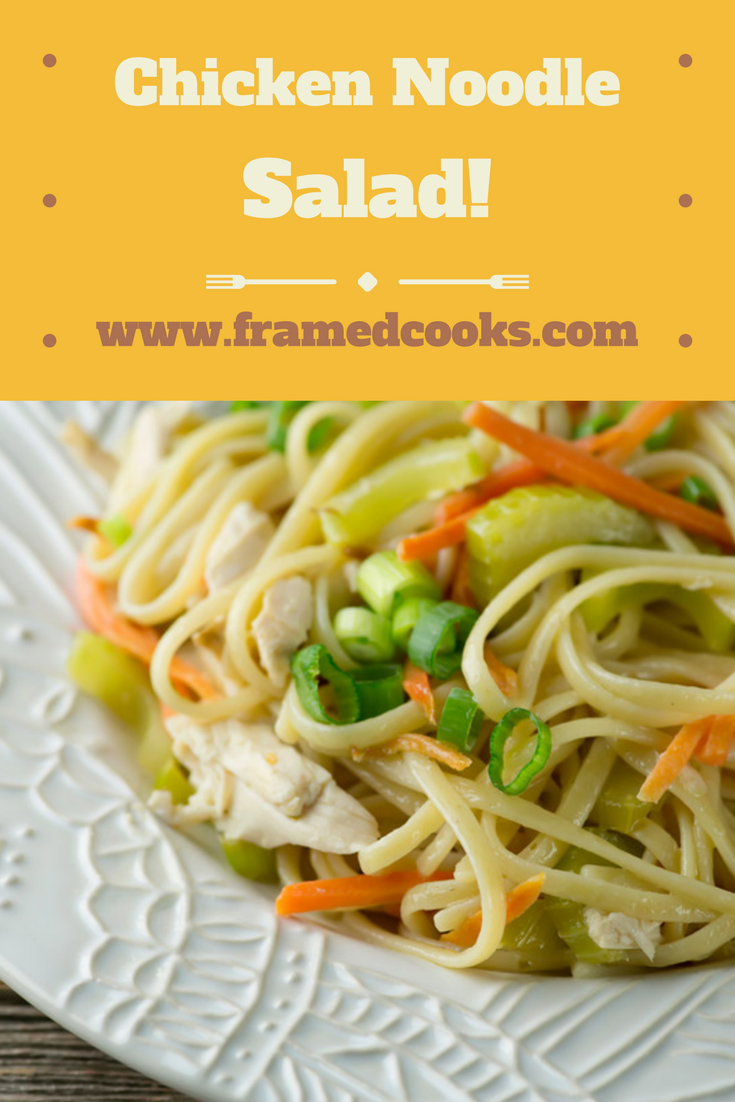 Turn your favorite chicken noodle soup into a summery chicken noodle salad with this easy recipe!