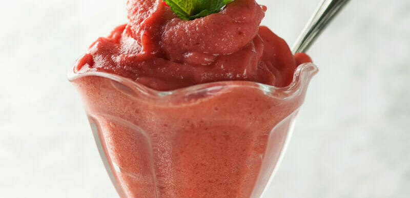 Easy Strawberry Peach Sorbet