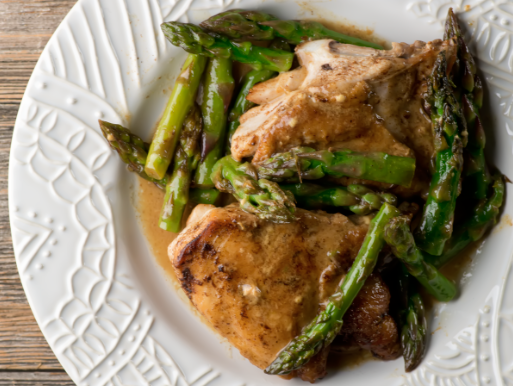 Easy Mustard Asparagus Chicken