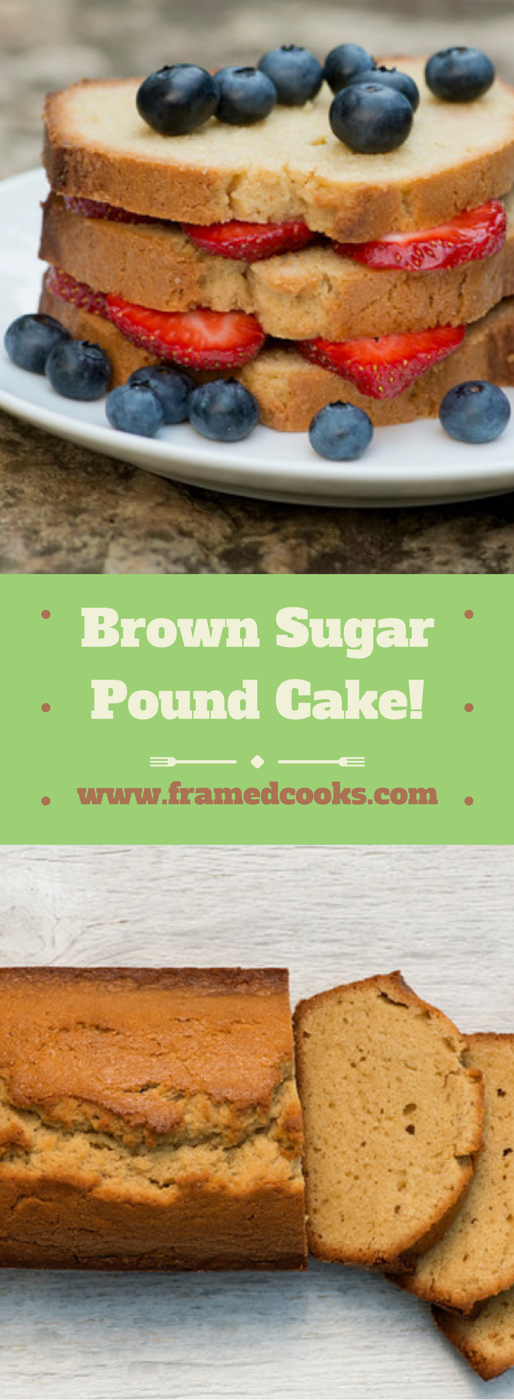 Jazz up your pound cake with the taste of brown sugar with this easy recipe!
