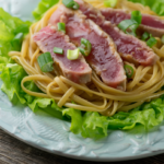 tuna with sesame noodles
