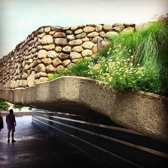 Office walk, day 9: The Irish Hunger Memorial at Vesey Street and North End.  Hauntingly beautiful.