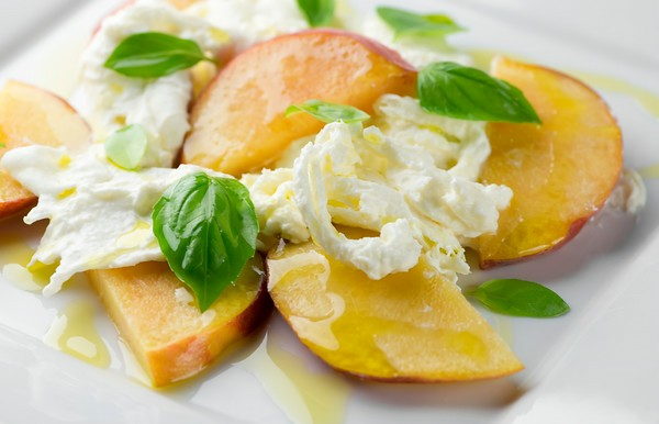 Peach Burrata Caprese