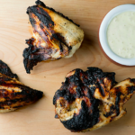 Barbecue chicken with Alabama white dipping sauce