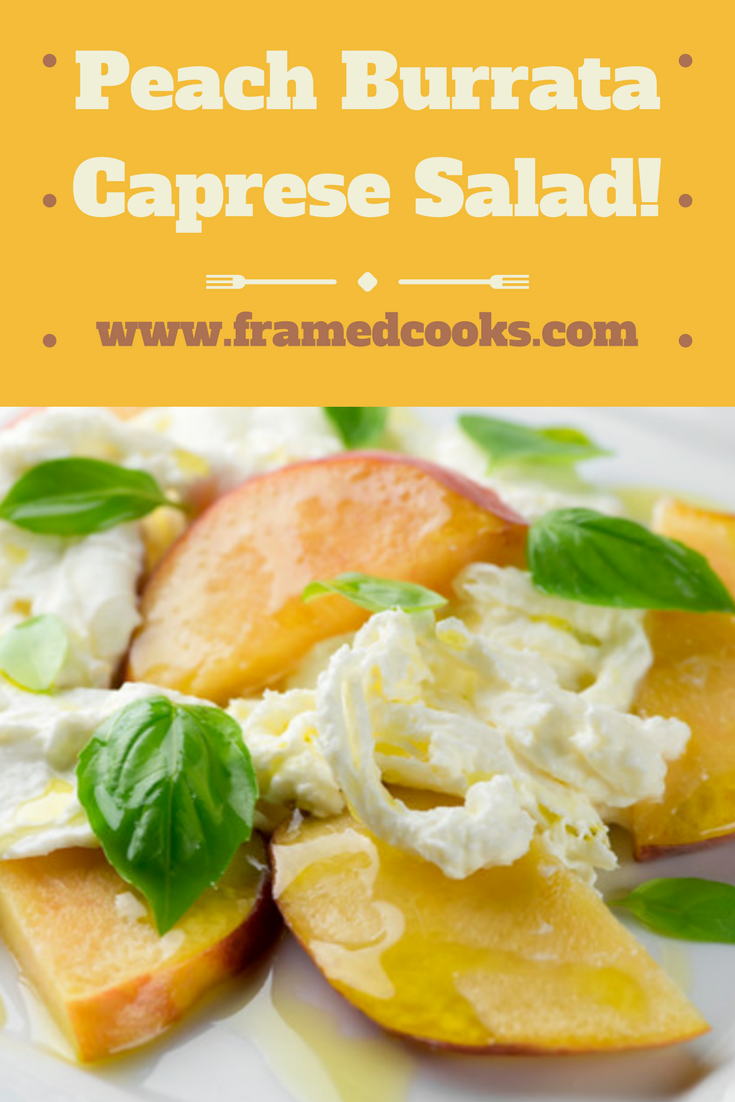 Caprese is not just for tomatoes any more! Give your salad a whole new look with this recipe for peach buratta caprese.