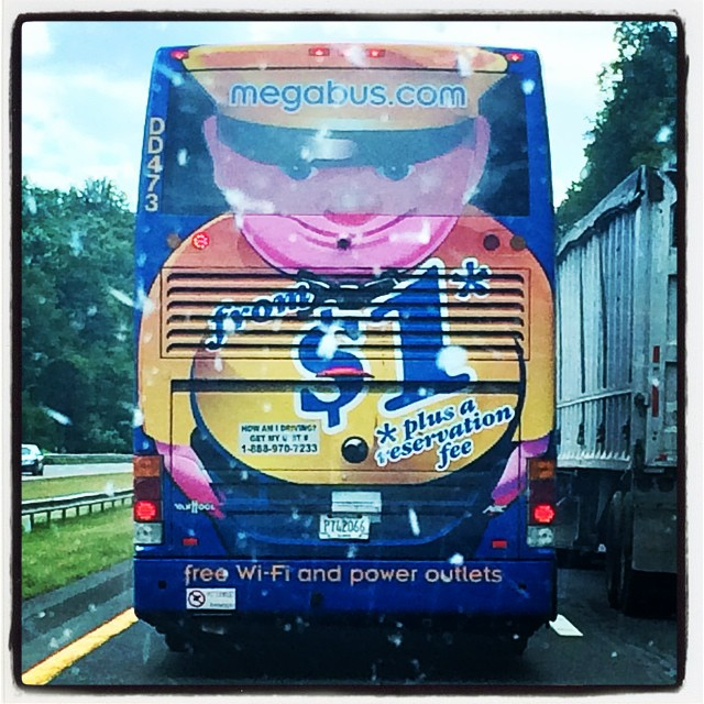 Is it just me or is the back of this bus just a teeny bit scary?