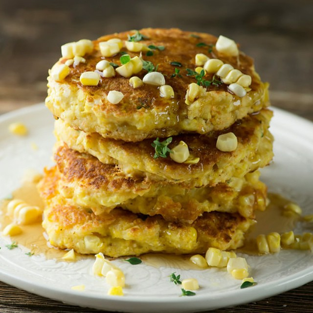 Fresh corn johnnycakes. #ontheblog now!