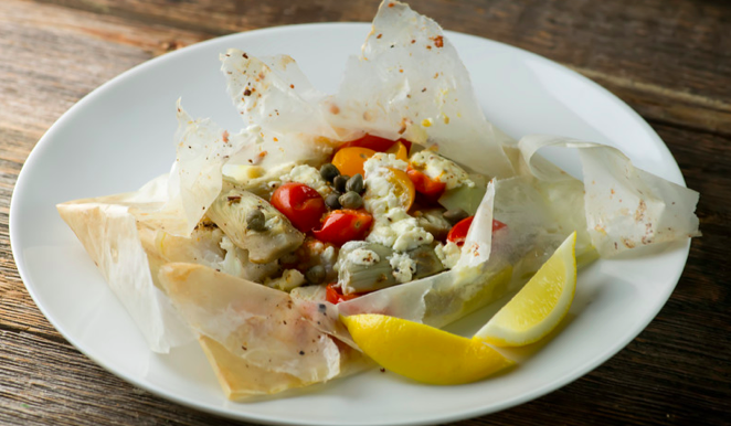 Seafood in Parchment Packages
