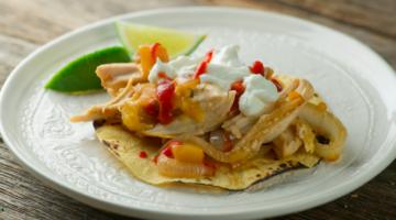bake and scoop chicken fajitas