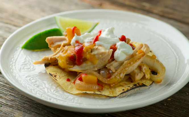 bake and scoop chicken fajitas