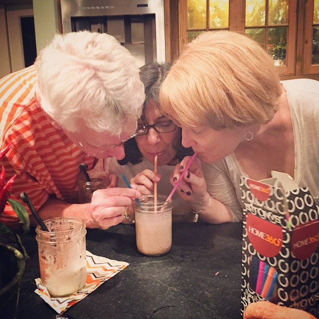 You know you are the best of friends when you can all share the same milkshake.