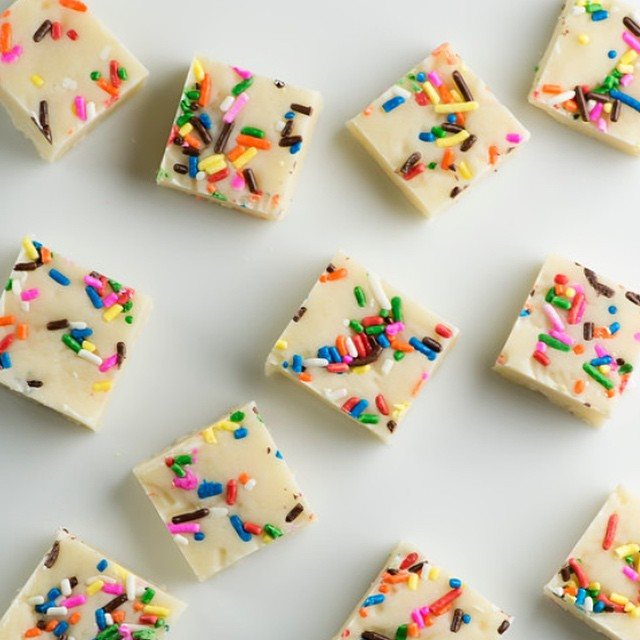 Cake batter fudge! Yep, I went there. ?. #ontheblog now!