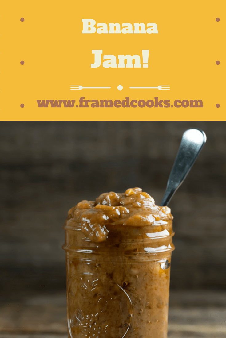 Give the banana bread a rest and turn those ripe bananas into jam with this quick and easy recipe.  Banana jam is perfect on toast, ice cream and sandwiches!