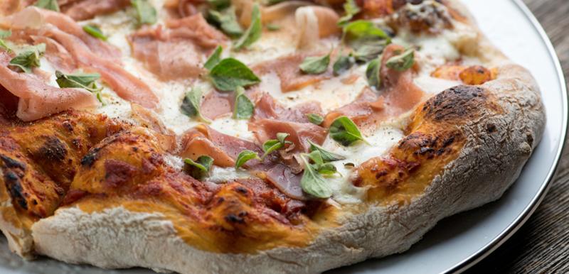 Burrata Prosciutto Oregano Pizza