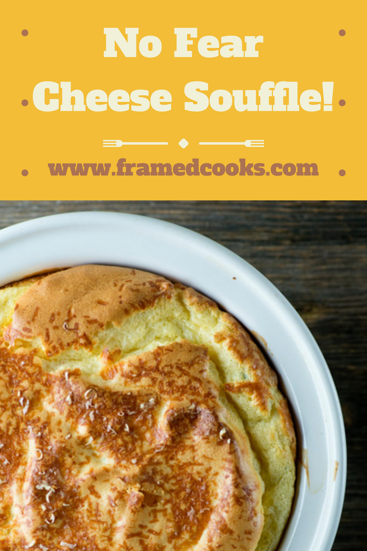 Don't let fear keep you from making an airy, cheesy, wonderful cheese souffle! This easy recipe for no fear cheese souffle will make you a souffle expert.