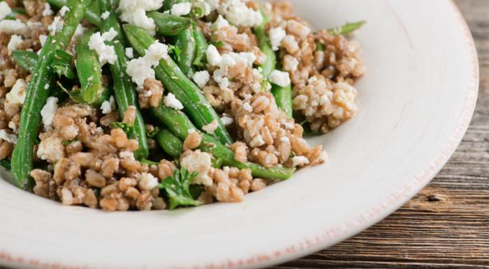 Warm Green Bean and Farro Salad