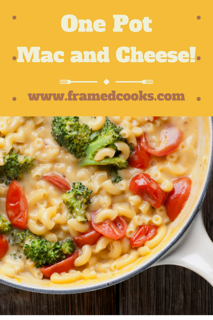 Pasta, cheese and veggies cook in one pot in this easy recipe for vegetable macaroni and cheese!