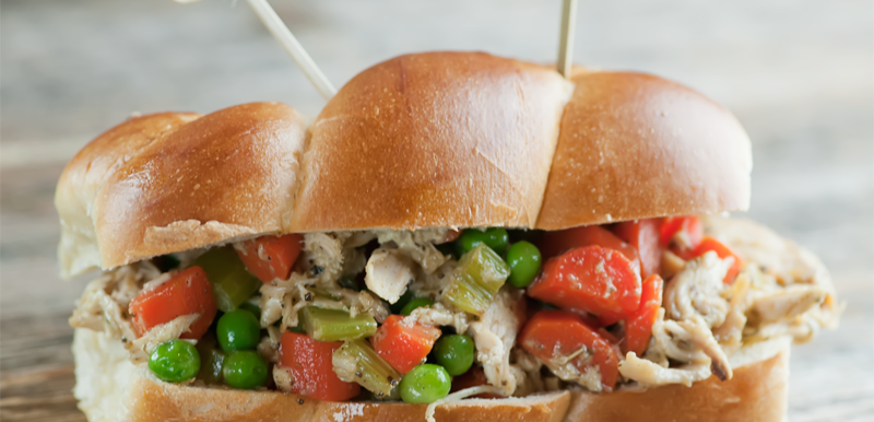 chicken pot pie sandwiches