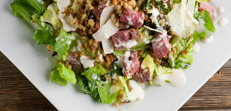 best steak Caesar salad