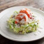 Pressed Wedge Salad with Shrimp