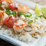 Grilled Shrimp and Watermelon Kebabs