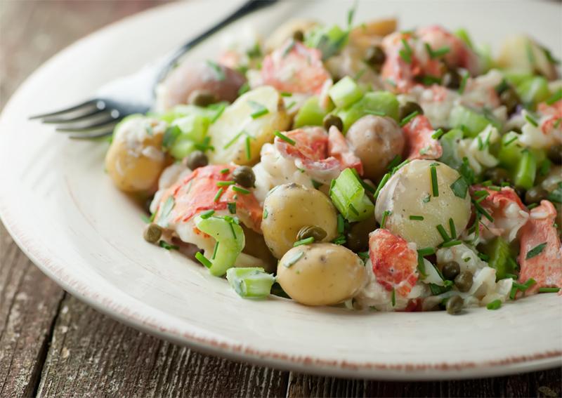 Lobster Potato Salad - Framed Cooks
