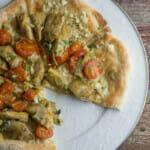 Feta Artichoke Pizza