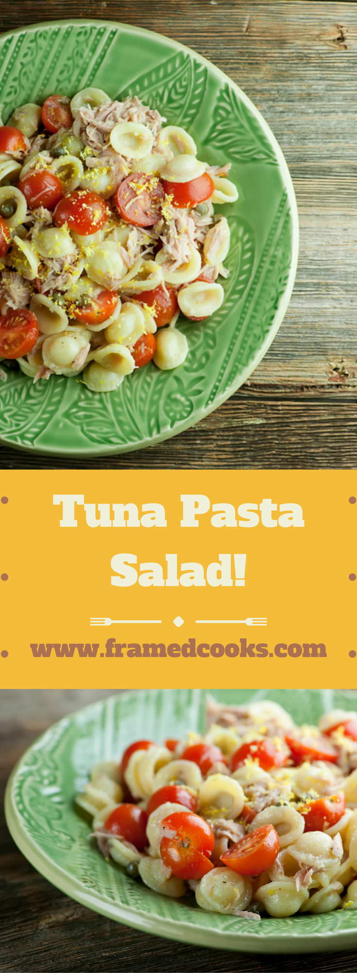 Tuna pasta salad is quick and good and good for you, packed with tuna and tomatoes and tossed with other good things! The perfect summer supper.