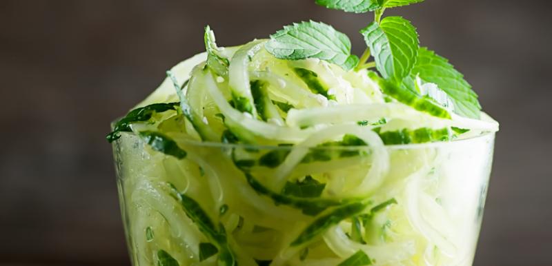 cucumber mint noodles