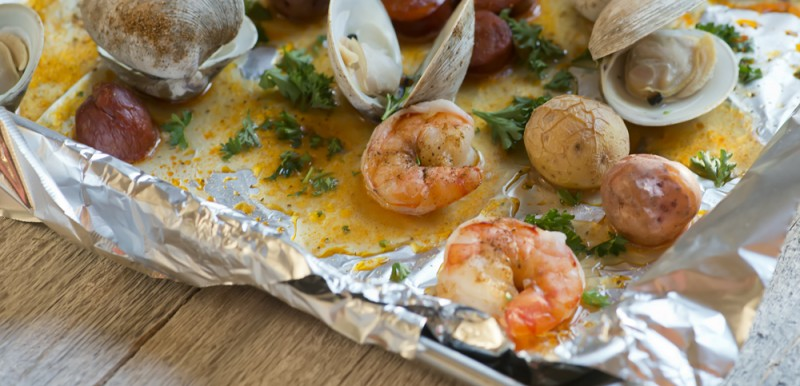 cookie sheet clambake