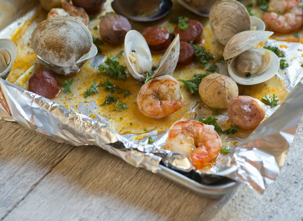 Cookie Sheet Clambake! - Framed Cooks