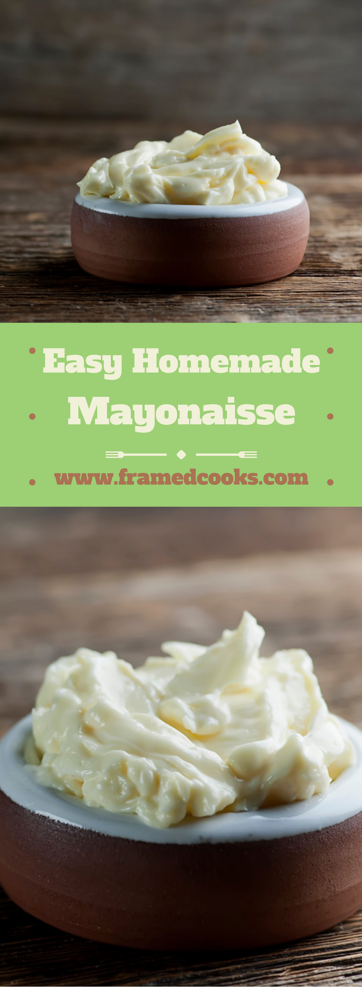 Want to know how to make homemade mayonnaise? Here's the easy recipe!