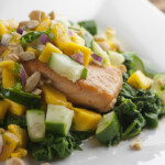Roasted Salmon with Mango Salsa