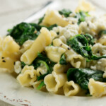 Pasta with Blue Cheese Spinach Sauce
