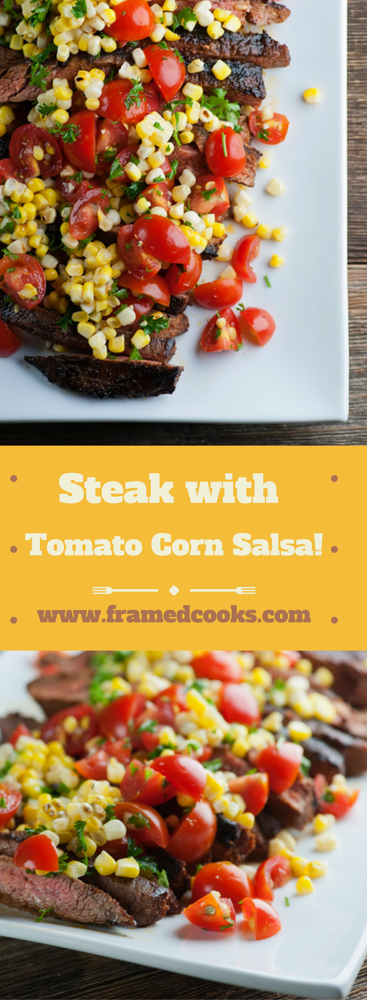 This recipe for spicy steak with corn salsa will add some zing to your next grilled supper! Fresh tomatoes and summer corn are all the veggies you need.