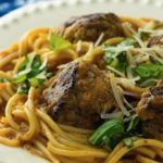One Skillet Spaghetti and Meatballs