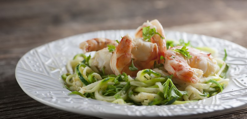 Lemon Shrimp with Zoodles