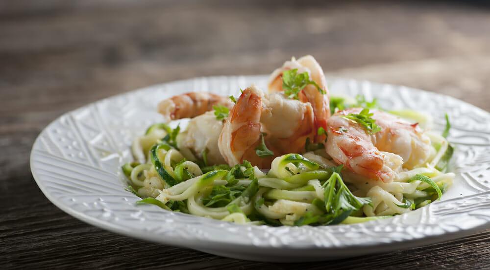 lemon shrimp with zoodles