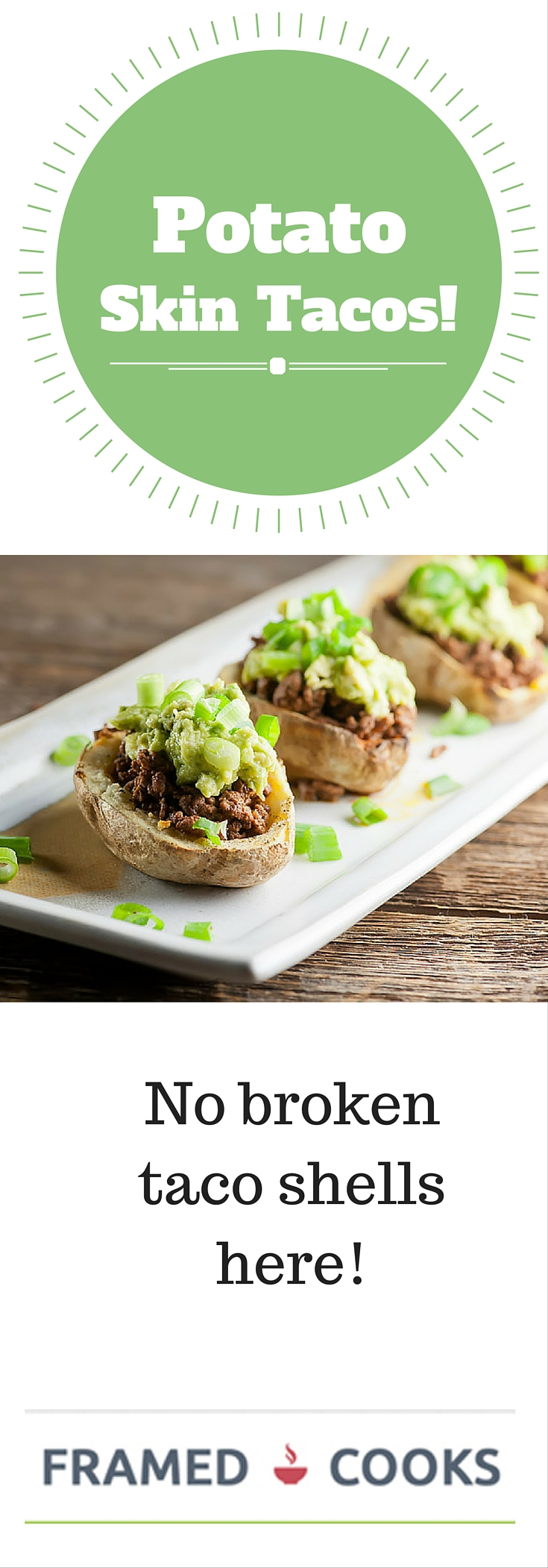This recipe for potato skin tacos leaves the taco shells behind for easy and delicious eating!